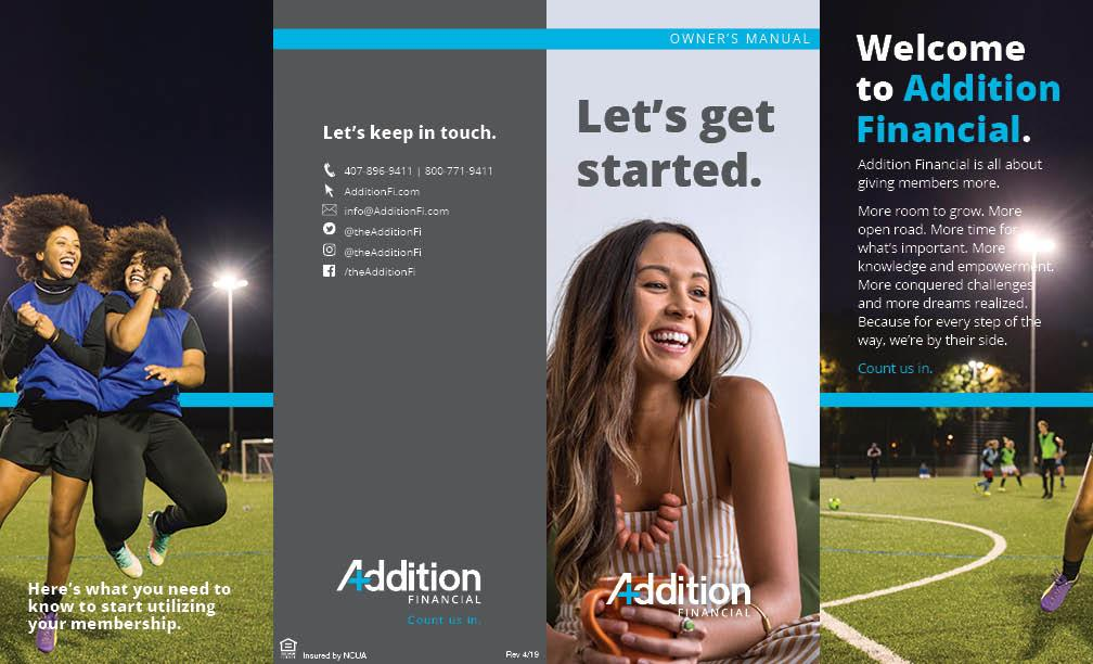 Addition Financial Owner's Manual