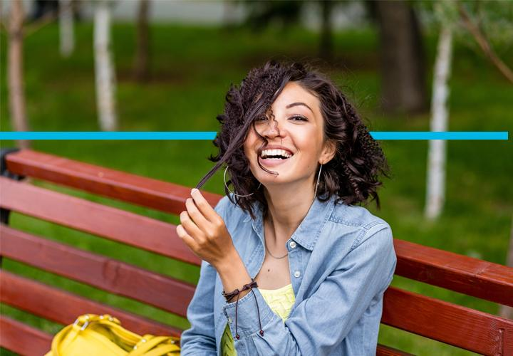 Woman enjoying a day at the park